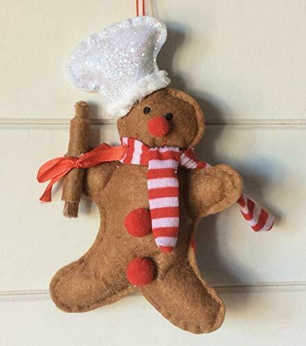 SASS AND BELLE CHRISTMAS TREE FESTIVE GINGERBREAD GIRL HANGING DECORATION...