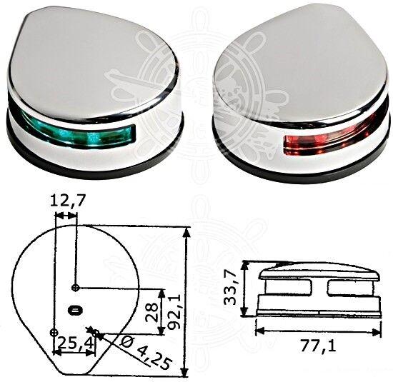 Osculati Seitliches Navigationslicht VA-Stahl VA-Stahl Navigationslicht poliert d93383