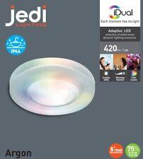1-Kit iDual LED Einbaustrahler Argon RGB farbig jedi Einbauleuchte weiß IP44 Bad