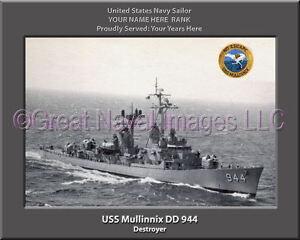 USS Carpenter DD 825 Personalized Canvas Ship Photo Print Navy Veteran Gift