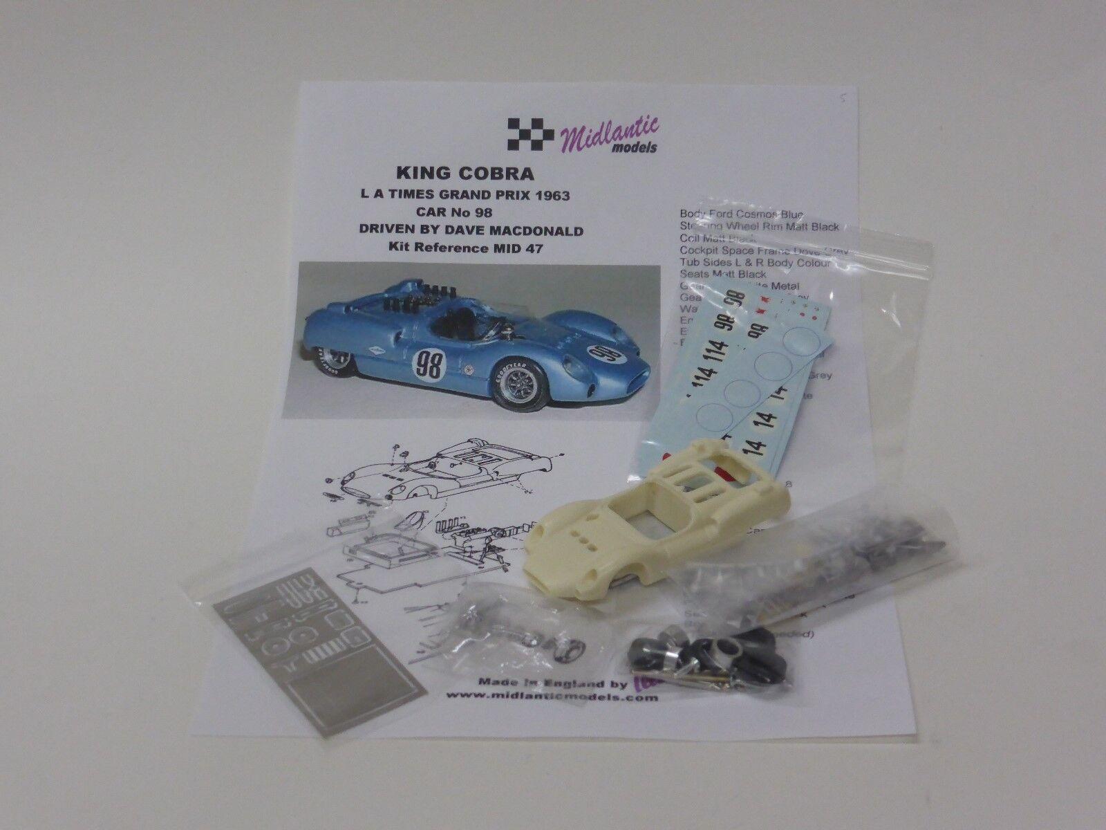 MID47 1 43 kit of 1963 King Cobra, car Dave MacDonald, Riverside not BBR