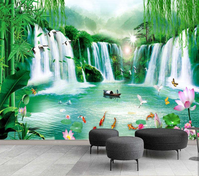 Great Terrific Lake 3D Full Wall Mural Photo Wallpaper Printing Home Kids Decor