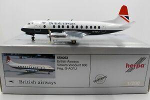 Herpa Wings 1:200 British Airways Vickers Viscount 800 (554053) Limited Edition