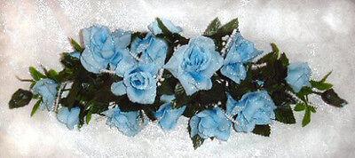 LIGHT BLUE SWAG ~ Silk Wedding Flowers Roses Arch Decoration Centerpieces Bridal