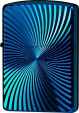 New ZIPPO Lighter Titanium Coating WAVE Blue Oil Lighter 62TIBL-WAVE ARMOR
