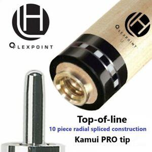 Lucasi-Hybrid-Pool-Cue-Shaft-11-75mm-or-12-75mm-KAMUI-PRO-TIP-Checkered-Ring