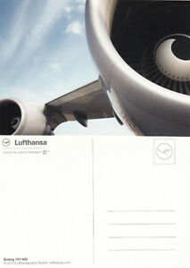 (05783) Postcard Lufthansa Boeing 747-400 - unused