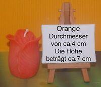 Formenkerze Rosenkerze Geschenkidee Rosenknospe Eyecatcher Wachskerze Orange
