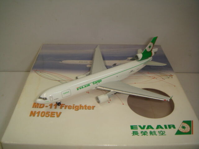 Herpa Wings 500 EVA Air Cargo MD-11F  1990s color  1 500 OG Inflight Sales Item