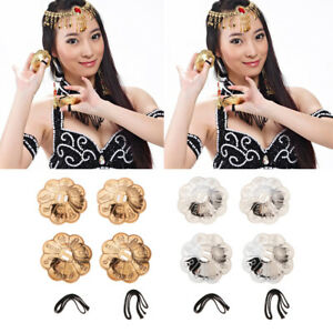 4PCs Finger Cymbal Belly Dance Finger Cymbals Instrument Parts Accessories