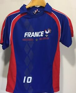 France National Soccer Team Men s Large Jersey  10 Shirt Rooster ... d45ccc1fb