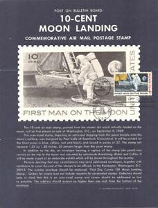 #C76 10c Moon Landing Stamp Poster - Unofficial Souvenir Page Folded MC