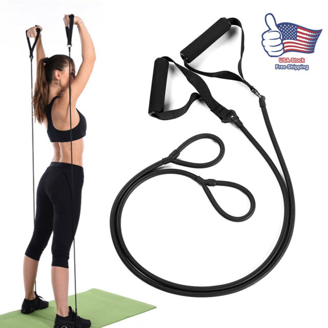 Gym Yoga Pull Rope 120cm Band Elastic Resistance Bands Fitness Workout Exercise