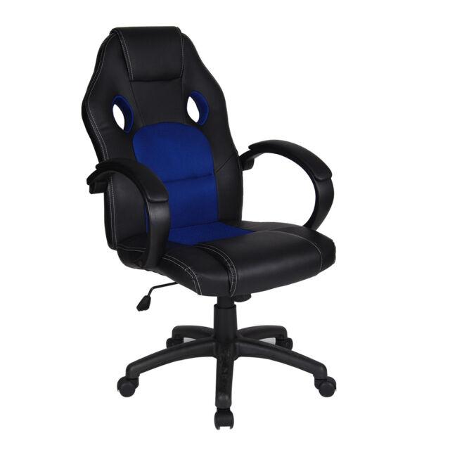 Polar Aurora Executive Swivel Office Chair PU Leather High Back Ergonomic Modern