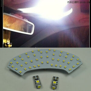 Error-Free-3-Light-LED-Map-dome-Interior-Kit-For-Mercedes-C-Class-W203-2001-2007