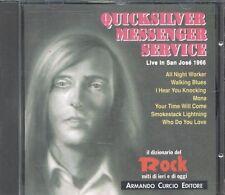 Quicksilver Messenger Service - Live San Jose 1966 Italy Press Cd Perfetto