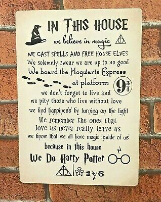harry potter sign in this house we do magic harry potter quotes