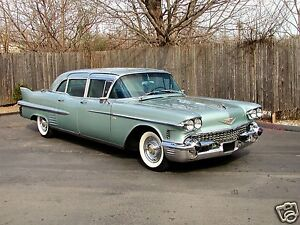 1958 Cadillac FLEETWOOD 75 LIMOUSINE, TEAL, Refrigerator Magnet, 40