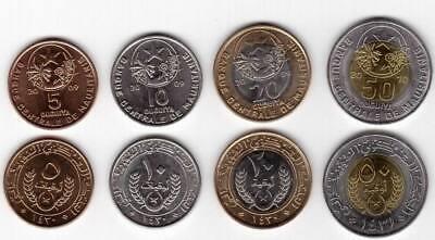 Mauritania set 4 coins 5 10 20 50 Ouguiya 2009-2010 UNC Lemberg-Zp
