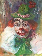 Vintage Michele Clown Print Pictures Lot Of 3 Art Prints Collectibles Clown Art