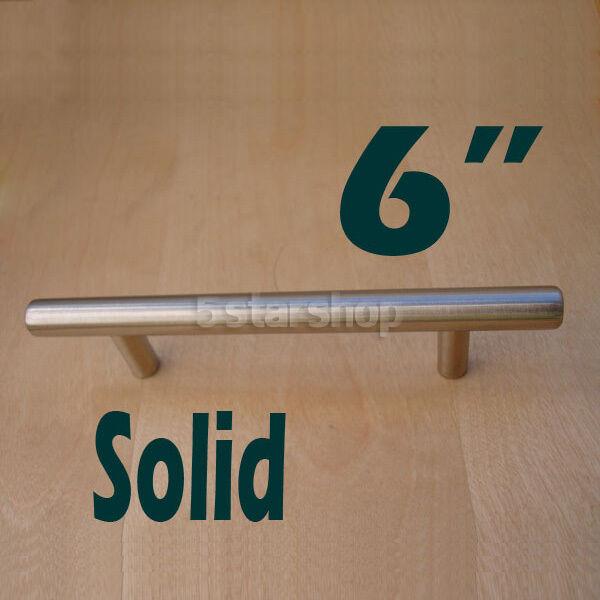 "2"" 4"" 5"" 6"" 8"" 10"" Stainless Steel Kitchen Cabinet Handles T Bar Pulls Hardware"