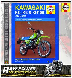 Kawasaki KC100 workshop//service 75-99 KE100 /& KH100 Haynes Manual 1371