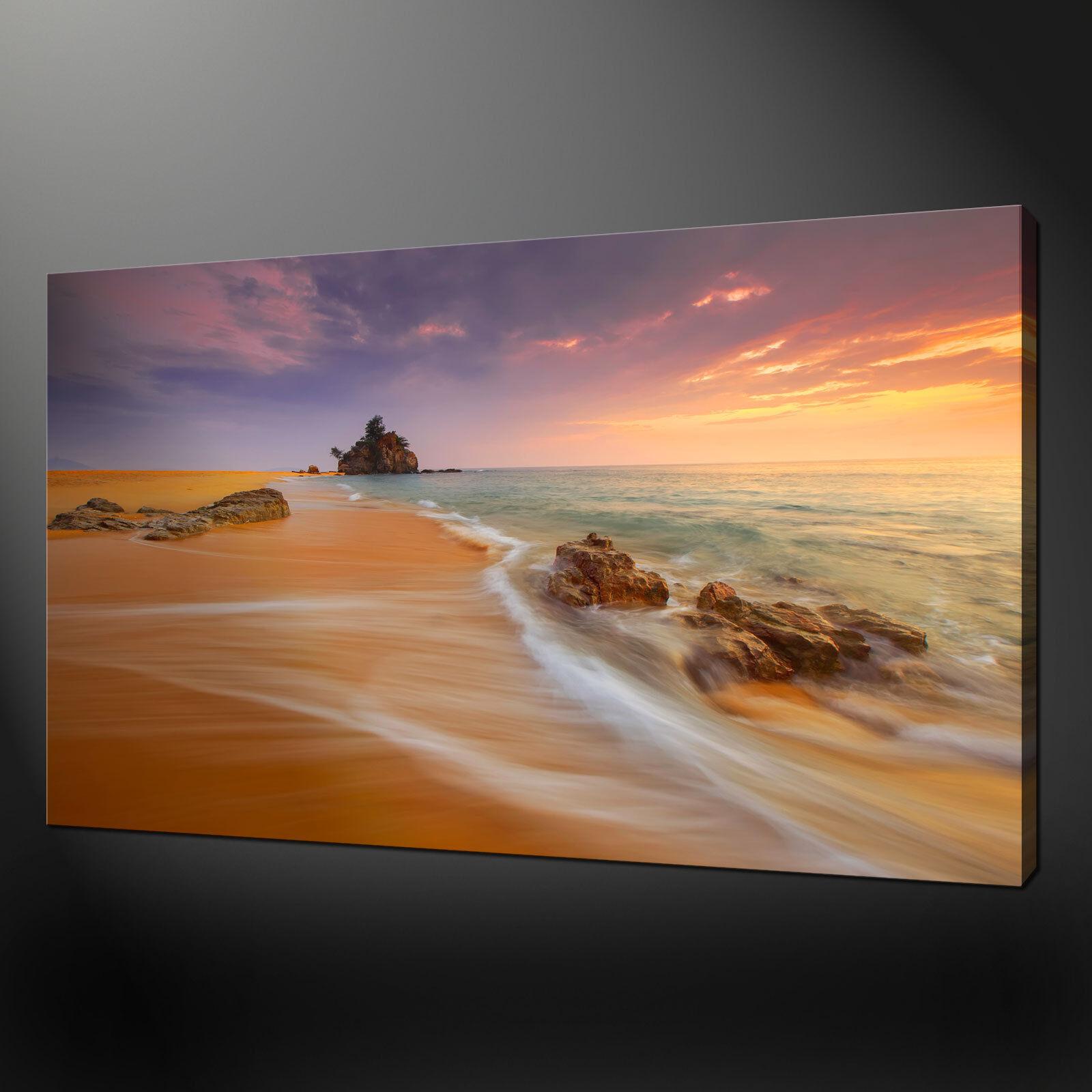 Calma SPIAGGIA SABBIOSA Foto Su Tela Stampa Wall Art Home Decor libero consegna veloce