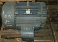 Rebuilt Baldor 75 Hp Electric Ac Motor 230460 Vac 1760 Rpm 405t Frame 3 Phase