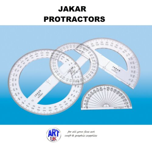 Jakar Protractors 180//360 Degree Transparent Clear School Maths 2101//2//3 /& 2104