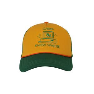 2b0ab5b96 Details about 2019 Dustin Hat Retro Trucker Cap Yellow Green Camp Know  Where Stranger Cap