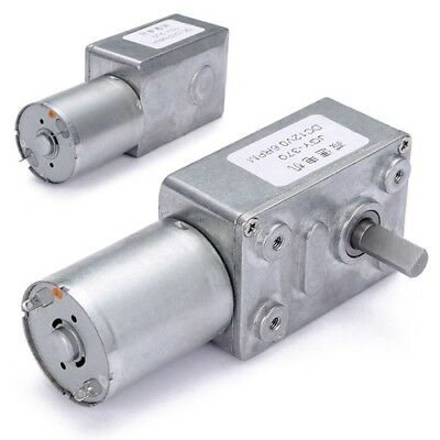 DC 12V 15RPM 6mm Shaft High Torque Turbine Worm Gear Box Reduction Motor