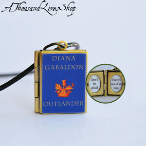 Outlander Series Book Locket quote inside Charm Keychain Pendant Necklace