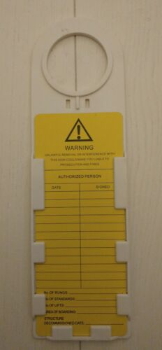 Scaffold Tags safety tags Ladder Tag Box of 10