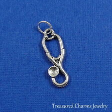 Silver STETHOSCOPE Doctor Nurse Medical Instrument CHARM PENDANT