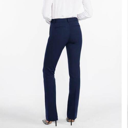 new EXPRESS COLUMNIST barely boot stretch mid rise pants dark blue 0 p  4 REG