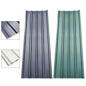 12x Metal Roof Green/Black Sheets Corrugated Garage Shed