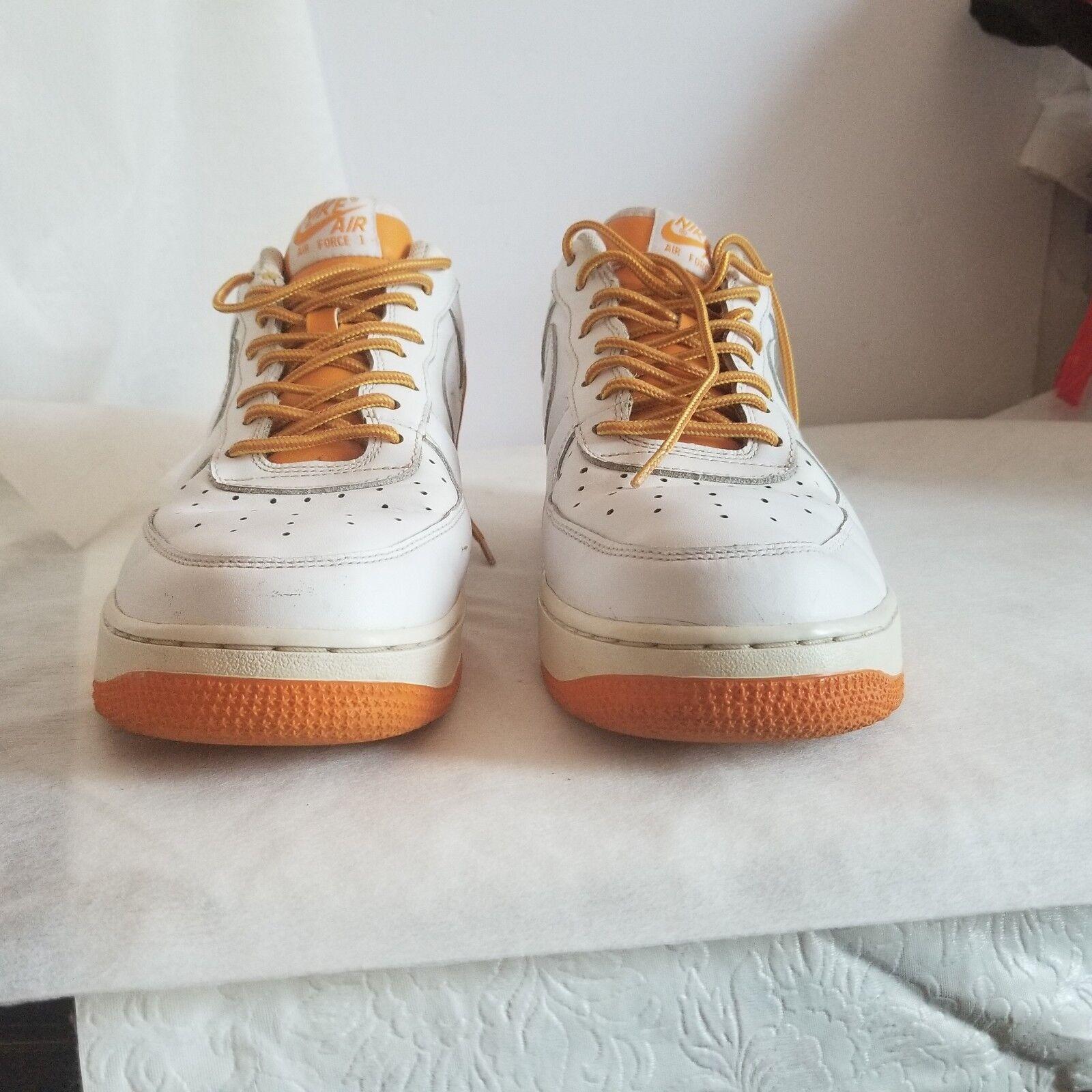 Nike Men's Air Force1 '07 White / Dark Orange  Size 11  315122-117