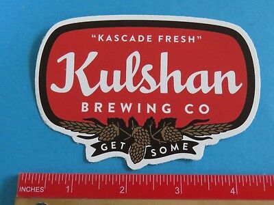 Washington Clear-Cut Texture Collectibles Faithful Beer Collectible Sticker ~ Get Some Kulshan Brewing Co ~ Bellingham