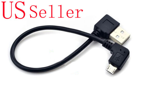 NEW Short 20cm Right Angle 90 Degree Micro B USB Data Charging Cable for Android