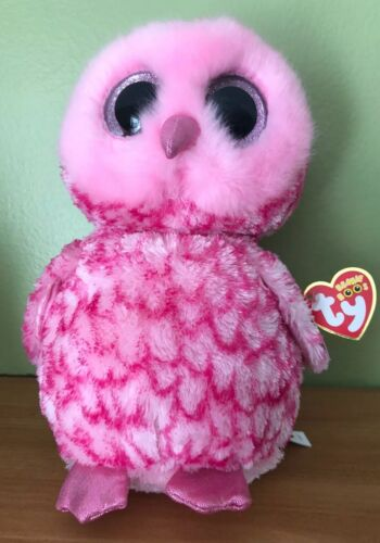 NEW MEDIUM PINKY OWL TY BEANIE BOOS