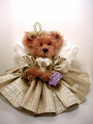 Annette Funicello Modest Goldie 13in Annette Funicello Mohair 50th Angel Teddy Bear In Custom Box 88319 Bears