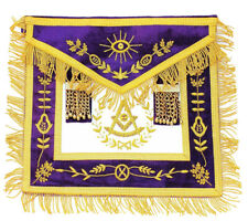 Chain Collar Purple Masonic Grand Lodge Past Master APRON Jewel Complete SET