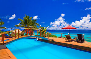 Details about 10x8ft Vinyl Photo Background Studio Backdrop Tropical Sea  Beach Swimming Pool