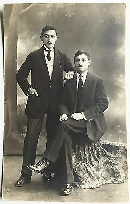 Vintage Photo Of Fashionable Polish Brothers In Victorian Era Suits Postcard Cvd Ebay
