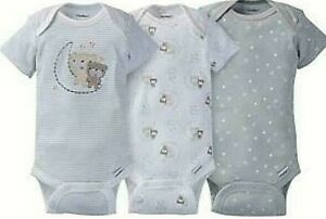 f158aca0f Image is loading Gerber-Infant-3-pack-Bears-Theme-Neutral-Onesies-