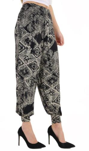 Hareem Paracadute loose fit pants pantaloni casual Loose Hippy Festival con motivo
