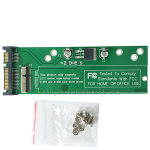 NEW card adapter for 2012 MACBOOK PRO Retina A1425 A1398 MD213 SSD to SATA 22PIN