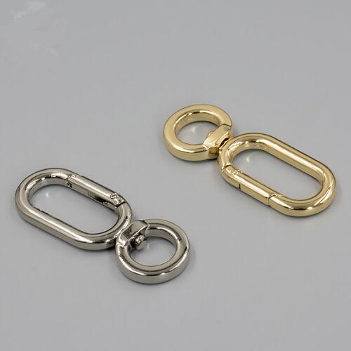 Metal Clasps Clips Hook DIY Handbag Bag Purse Hardware Spring Opening