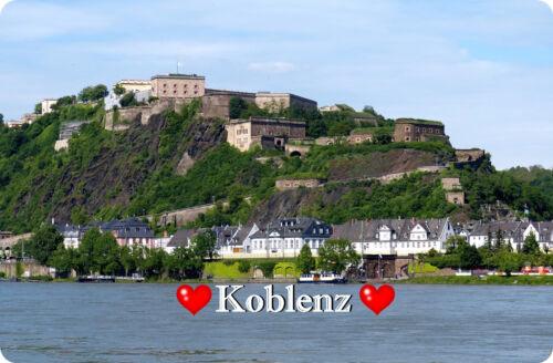 Magnetschild Kühlschrankmagnet Magnet I`Love Koblenz I