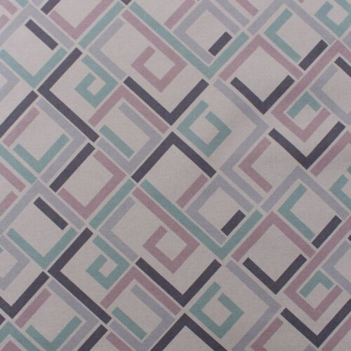 Sirene Pastel Geometric Abstract Lilac Blue Blocks Tetris Upholstery Fabric